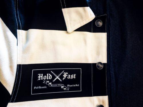 veste-prisonnier-denim-holdfast-rayée-noir-blanc-etiquette