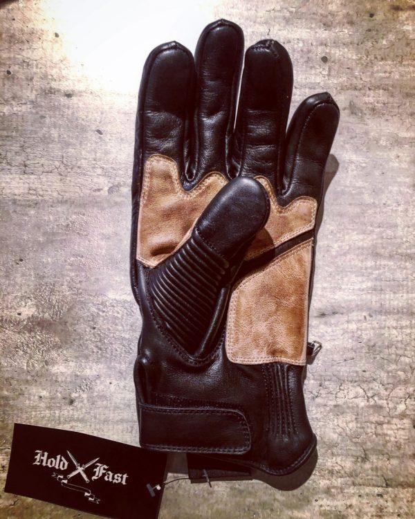 gants-moto-cuir-noir-vintage-le mans-1971-HoldFast-droite
